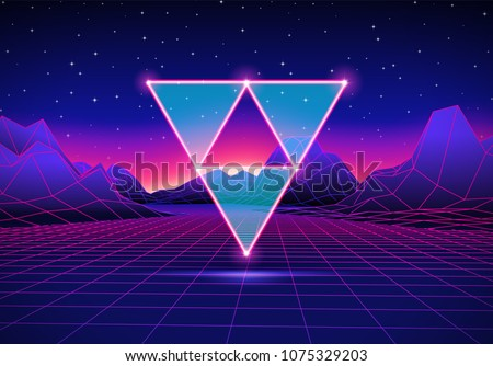 retro 80s hipster styled