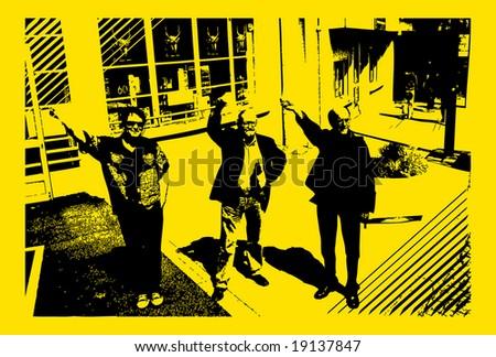 retro salute photography like