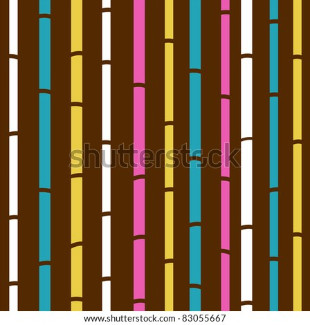 retro seamless colorful bamboo