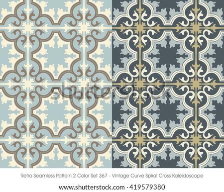 retro seamless pattern 2 color