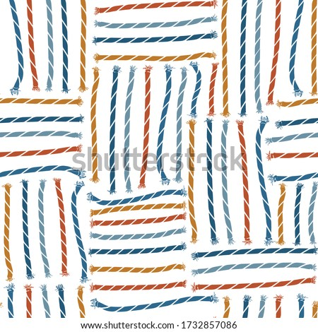 Retro seamless pattern of sailor rope illustration vector EPS10 ,Design for fashion,fabric,web,wallpaper,wrapping,cover and all prints on white background color