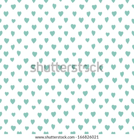 Retro seamless pattern with colorful hearts. Great for Valentines day. Abstract romantic background. Vector illustration