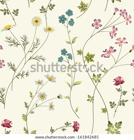 retro seamless pattern with