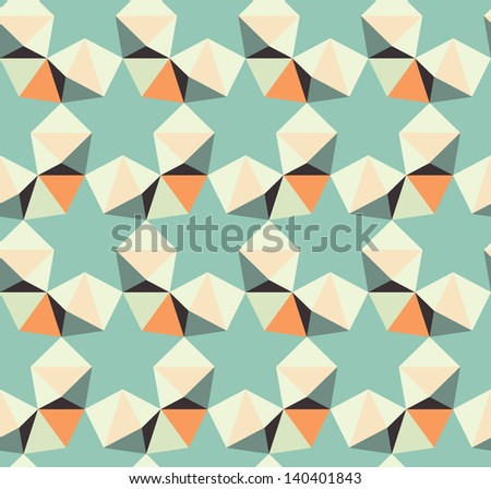 Retro seamless pattern with geometric hidden stars.