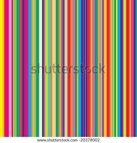 Retro (seamless) stripe pattern with bright colors - stock vector