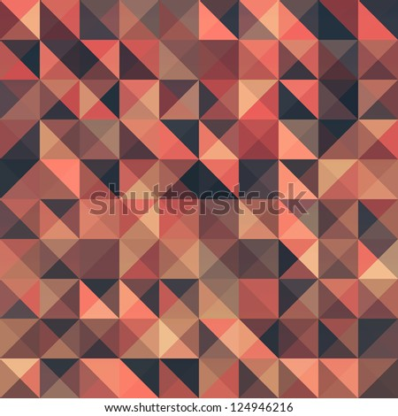Retro seamless triangle abstract pattern. Vector illustration
