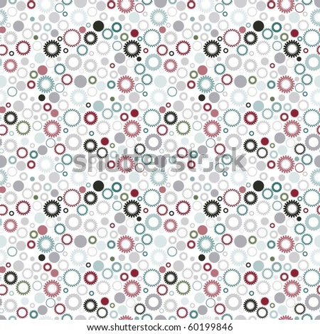 Retro seamless vivid gear wallpaper