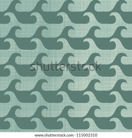 retro seamless waves background
