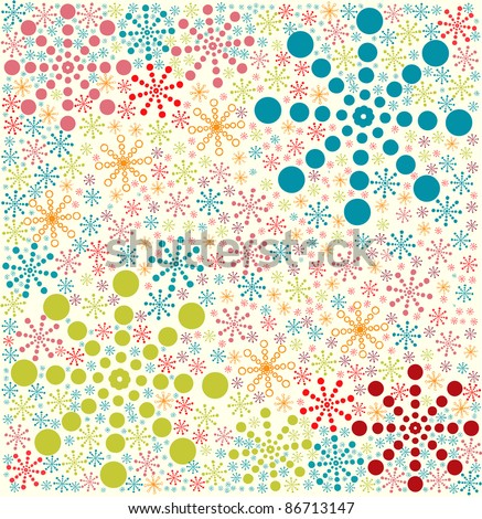 Retro seamless winter pattern, vector illustration
