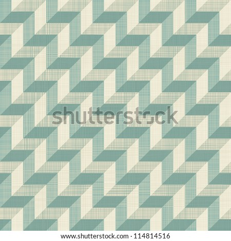 retro seamless zigzag pattern in blue and grey
