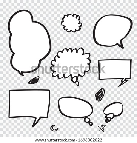Retro Set of Comics Speech and Bubbles Cartoon Vector ,on transparent background. Vector illustration, vintage design, pop art style.