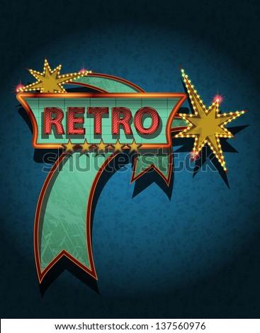 retro sign board   vector poster