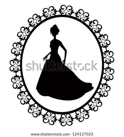 retro silhouette of a woman in