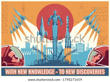 retro soviet space propaganda