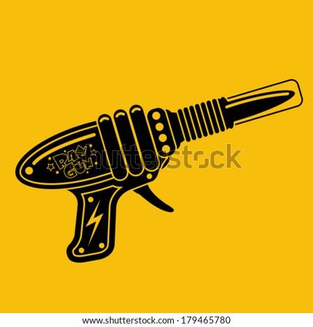 retro space gun tin toy