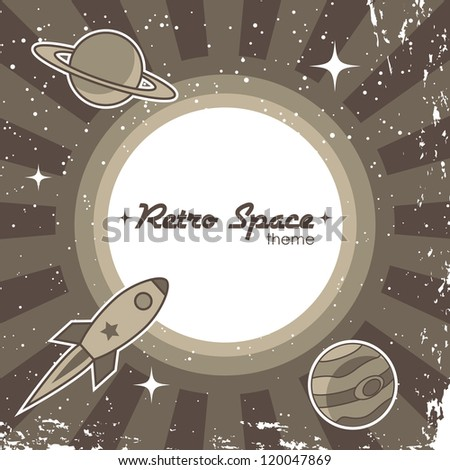 retro space theme background