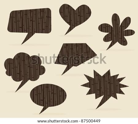 retro speech clouds