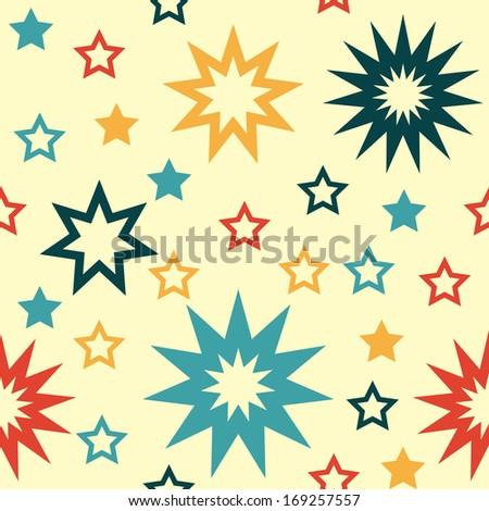 retro star seamless pattern