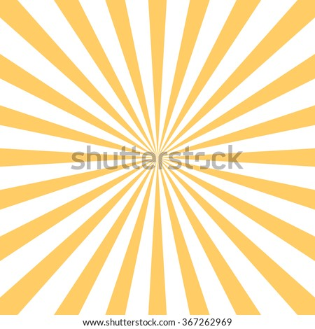 Retro starburst background. Centric Yellow sunburst vector pattern, Sun burst retro texture. Flat line rays illustration. Shiny template for your design, seamless backdrop.