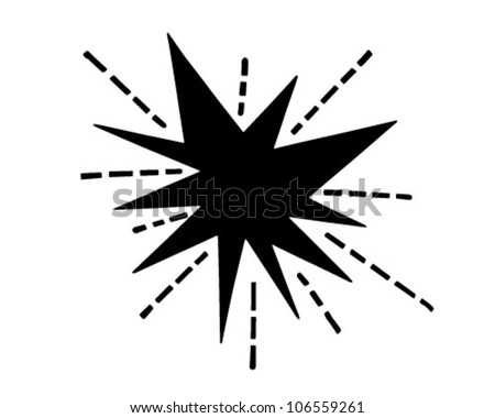 Retro Starburst - Clipart Illustration