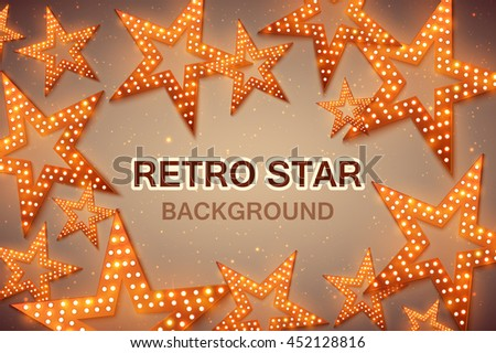retro stars abstract background