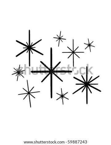 Retro Stars 1 - Clip Art