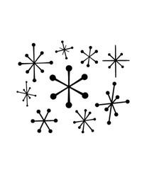 Retro Stars 4 - Retro Clip Art