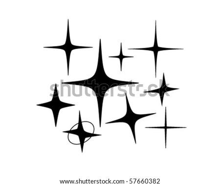 Retro Stars 5 - Retro Clip Art