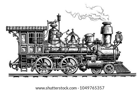 retro steam locomotive  train