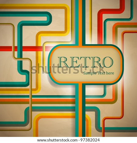 Retro stilized brochure design