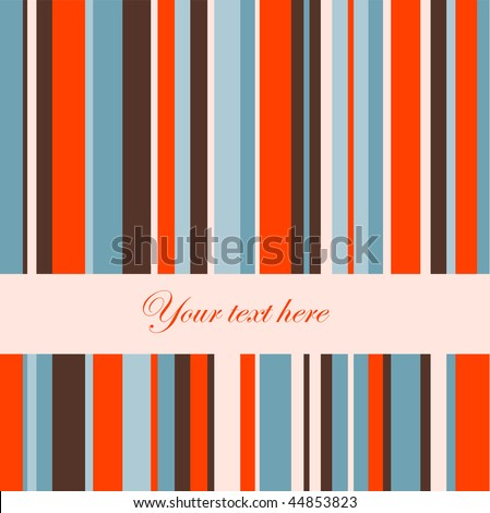 Retro stripe pattern.