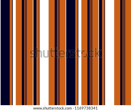 Retro stripe pattern with navy blue,white and orange vertical parallel stripe.Vector pattern stripe abstract background