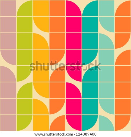 Retro style abstract seamless pattern