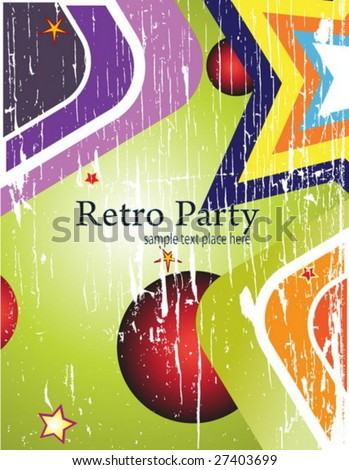 Retro style card