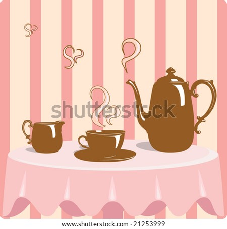 Retro style coffee vector illustration
