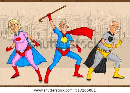 retro style comics superhero