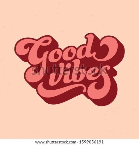 Retro Style Good Vibes - Tee Design For Printing Сток-фото ©