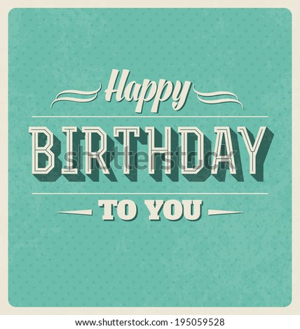 Happy Birthday Cards Retro Retro Style Happy Birthday