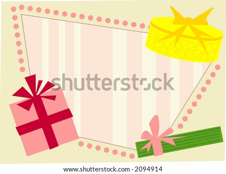 Retro style holiday frame. Fully editable vector illustration.