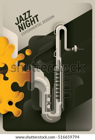 retro style jazz night poster