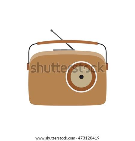 retro style music radio