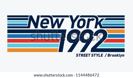 Retro style New York vector typography, for t-shirt prints and other uses.