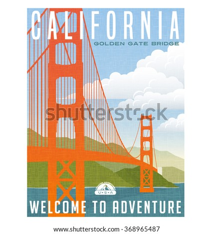retro style travel poster or...