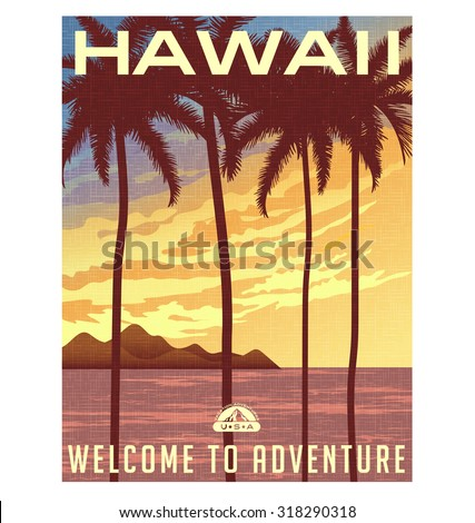retro style travel poster or