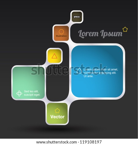 Retro Style Vector design frame, rectangle