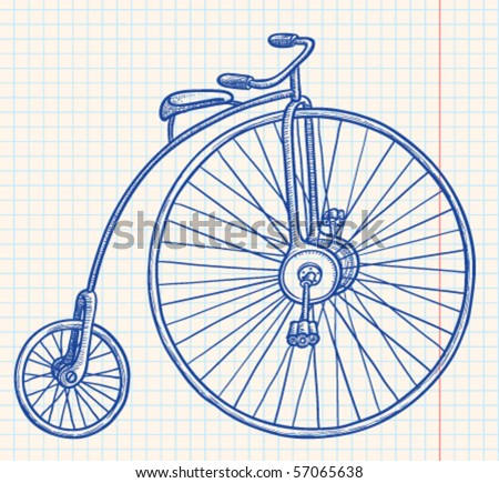 Retro-styled bicycle, vector illustration