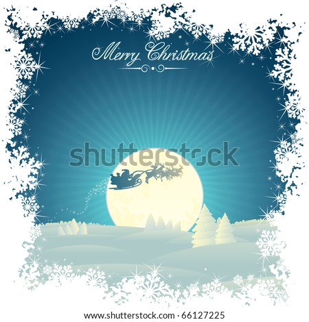 Retro Styled Christmas card with copy space