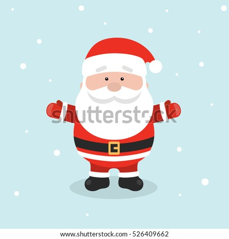 retro styled christmas card with santa claus vector illustrator
