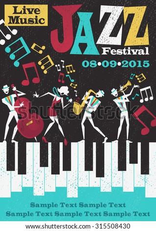 retro styled jazz festival
