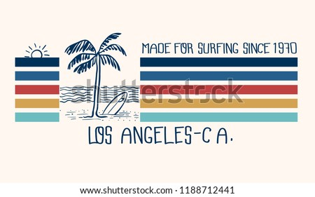 retro styled surfing graphic